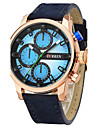 Men\'s Sport Watch Fashion Watch Quartz / Leather Band Casual Blue Red Brown