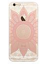 Pour Transparente Motif Coque Coque Arriere Coque Mandala Flexible PUT pour AppleiPhone 7 Plus iPhone 7 iPhone 6s Plus iPhone 6 Plus