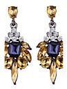 Серьги-слезки Бижутерия Мода Богемия Стиль Euramerican Драгоценный камень Бижутерия Золотой Белый Черный Светло-синий Бижутерия Для