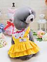Собаки Плащи Одежда для собак Лето Мультфильмы Милые На каждый день Желтый Синий