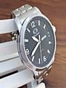 Men\'s Fashion Watch Quartz Alloy Band Casual Silver