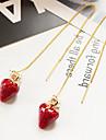 Серьги-слезки Кристалл Искусственный жемчуг В виде подвески Сплав Красный Бижутерия ДляСвадьба Для вечеринок Особые случаи День рождения
