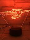 소설 3D 시각적으로 주도 야간 조명 스타 트렉 선박 그림 시원한 장식 테이블 램프 야간 조명 veilleuse 팬들을위한 터치 램프