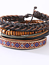 The New Vintage Cowhide Ancient Hand Woven Bracelet Cortical Layers Hand Rope Men\'s Bracelet Adjustable Size045