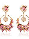 Crystal Geometric Drop Earrings Jewelry Flower Style Party Daily Casual Crystal Alloy 1 pair Multi Color