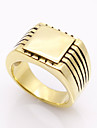 Fashion Square Cut Titanium Steel Rings Brand Design Vintage Jewelry For Man