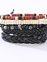 The New Vintage Cowhide Ancient Hand Woven Bracelet Cortical Layers Hand Rope Men\'s Bracelet Adjustable Size049