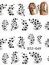 10pcs/set Hot Sale Sexy Nail Art Water Transfer Decals Sexy Leopard Design Beautiful Nail Art Sticker DIY Beauty Decals Romantic Decals STZ-049