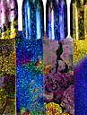 4pcs/set 100*4CM Fashion Colorful Laser Starry Sky Nail Art Transfer Foils Sticker Chameleon Gradient Effect Nail DIY Foils Stickers Nail Beauty FS4