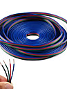 4 couleur 5m rgb ligne de cable d\'extension de bande LED RGB 5050 3528 cordon 4pin