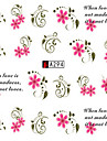 10pcs/set Sweet Style Beautiful Flower Design Nail Art Sticker Beautiful Nail Water Transfer Decals Nail DIY Design A294