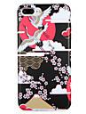 Para Apple iphone7 7 mais capa capa padrao capa traseira guindaste flor de animal suave tpu 6s mais 6 mais 6s 6