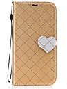 용 지갑 카드 홀더 스탠드 플립 패턴 마그네틱 케이스 풀 바디 케이스 단색 기하학 패턴 심장 하드 인조 가죽 용 Nokia Nokia 6