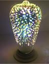 4W E27 Круглые LED лампы ST64 28 Integrate LED 350 lm Тёплый белый Декоративная AC 85-265 V 1 шт.