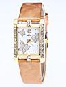Women\'s Fashion Watch Wrist watch Quartz Rhinestone Butterfly Leather Band Casual