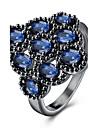 Кольцо Кристалл ЦирконийБазовый дизайн Уникальный дизайн Цветочный дизайн Сердце Геометрический Дружба Простой стиль Мода Английский