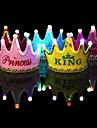 1шт светящийся светодиодный колпачок принцессы с днем рождения украшение корона вел детей день рождения шляпу фестиваль фестиваля