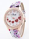 Женские Модные часы Китайский Кварцевый Кожа Группа Цветы С подвесками Разноцветный