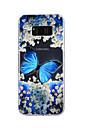 Для samsung galaxy s8 плюс s8 крышка корпуса бабочка падающий клей лак высокое качество тпу материал чехол для телефона s7 edge s7 s5