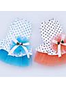개 드레스 강아지 의류 여름 모든계절/가을 프린세스 귀여운 패션 캐쥬얼/데일리 오렌지 블루
