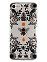 애플 아이폰 7 7 플러스 6s 6 플러스 5s 5 케이스 커버 꿀벌과 꽃 패턴 드롭 접착제 광택 고품질 tpu 소재 전화 케이스