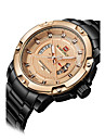 NAVIFORCE Men\'s Sport Watch Fashion Watch Wristwatch Casual Watch Quartz Calendar Stainless Steel Band Luxury Cool Unqiue Watches