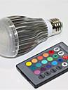 5W E27 Lampada Redonda LED A60(A19) 1 LED Integrado 500 lm RGB Regulavel Controle Remoto Decorativa AC 85-265 V 1 pc