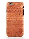 Pour Apple iphone 6 6s estampe en relief etui en etui en bois motif bois geometrique bois solide dur