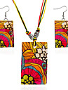 MPL Europe and the United States classic fashion geometric Necklace Earrings Set