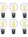 4.5W E27 LED лампы накаливания A60(A19) 6 COB 500 lm Тёплый белый Декоративная AC220 AC230 AC240 V 6 шт.