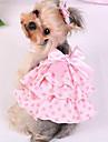 Cachorro Vestidos Roupas para Caes Casual Fashion Xadrez Roxo Rosa claro