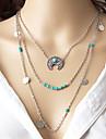 Жен. Слоистые ожерелья MOON Сплав Мода Богемия Стиль Euramerican Бижутерия Для Для вечеринок Повседневные 1шт