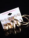 Imitation Pearl AAA Cubic Zirconia Leaf Stud Earrings Hoop Earrings Earrings Set Jewelry Flower Style Multi-ways WearWedding Party Daily