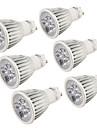 YouOKLight® 6PCS GU10 5W 400-450lm 3000K/6000K  5-High Power LED SpotLight Bulb Lamp  (AC110-120V/220-240V)-Silver