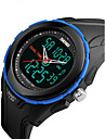 SKMEI Men\'s Sport Watch Digital LCD Calendar Water Resistant / Water Proof Dual Time Zones Alarm Stopwatch Rubber Band Cool