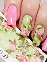 1 sheet Nail Water Decals Chic Floral Transfer Stickers Flowers Nail Art Sticker Tattoo Decals XF1420