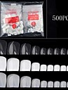 500PCS Nail art toes A piece of 3 color