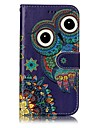 For Samsung Galaxy A3 A5 (2017) Case Cover Owl Pattern Shine Relief PU Material Card Stent Wallet Phone Case