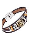 Homme Bracelets en cuir Bijoux Naturel Mode bijoux de fantaisie Cuir Alliage Bijoux Pour Occasion speciale Sports