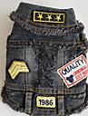 Dog Vest Dog Clothes Cowboy Letter & Number Blue Black