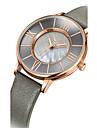 Жен. Модные часы Кварцевый Защита от влаги Кожа Группа Повседневная Черный Синий Коричневый Серый Золотистый