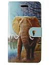 Para samsung galaxy a5 2017 a3 2017 capa capa capa de elefante para animais com cartao e estande a3 2016 a5 2016 a3 a5