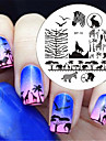 BORN PRETTY Zebra Wolf Animal Patterns Nail Art Stamp Template Image Plate BP16 Nail Stamping Plates Set Nails Tool