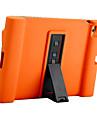 Para maca ipad 4/3/2 capa de capa a prova de choque com suporte corpo cheio silicone de cor solida