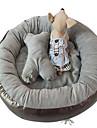 강아지 침대 애완동물 매트&패드 솔리드 방수 휴대용 소프트 그레이 퍼플 로즈
