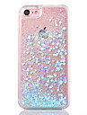 Caso traseiro para iphone 7 7 mais fluir liquido transparente glitter brilhar capa de pc rigido para iphone 6 6s mais se 5s 5