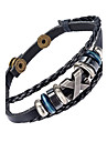 Men\'s Leather Bracelet Jewelry Natural Fashion Leather Alloy Irregular Jewelry For Special Occasion Gift Sports 1pc
