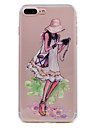 for iPhone 7 Plus 7 Case Cover Ultra-thin Transparent Pattern Back Cover Case Traveler Sexy Lady Soft TPU for 6s Plus 6 plus 6 SE 5S 5