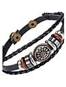 Homme Bracelets en cuir Bijoux Naturel Mode Cuir Alliage Bijoux Pour Occasion speciale Sports 1pc