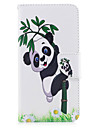 Para iphone 7plus 7 caixa de telefone material de couro PU panda padrao de bambu caixa de telefone pintada 6s mais 6plus 6s 6 se 5s 5
